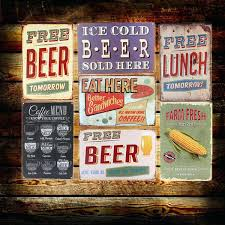 Retro Room Decor Bar Themed Wall Art Bar Wall Decor Buy Cold Beer Wine Here Wall
