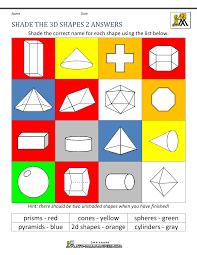 Shade Of Orange Names 3d Shapes Worksheets 2nd Grade