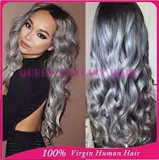 pictures of black ombre body wave curls bob hairstyles grade 7a dark roots virgin brazilian hair loose wave two tone silver