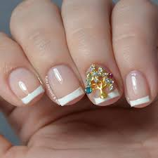 pink u0026 polished classic french featuring goombay gal nail charms