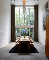Curtains For Dining Room by Floor To Ceiling Curtains For Contemporary Dining Room With High