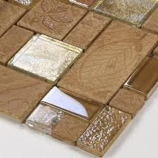 Brown Glass Tile Backsplash by Wholesale Porcelain Glass Tile Wall Backsplash Tan Crystal Art