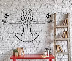 Yoga Home Decor Buddhism Wall Decal Yoga Om Meditation Home Interior Decor