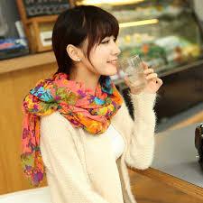 elegant fashion beautiful womens ladies floral flower scarf shawl