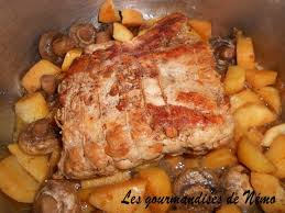 cuisiner roti de porc rôti de porc en cocotte minute les gourmandises de némo