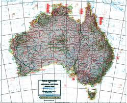 Map Projection Coordinate System Identify What Projection This Australian Map