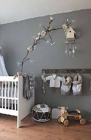 nursery decor with wall decal and birdhouse baby nursery decor