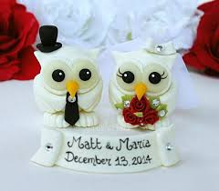 owl wedding cake topper white owl wedding cake topper with banner winter wedding