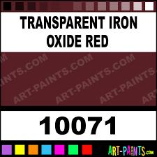 transparent iron oxide red artist oil paints 10071 transparent