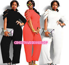 chiffon solid plus size jumpsuits u0026 rompers for women ebay