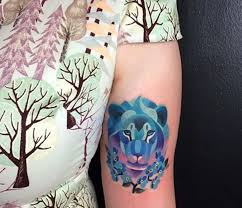 lion finger tattoos 21 watercolor animal tattoos even your parents would approve of