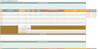 Excel Spreadsheet Development Free Marketing Plan Templates For Excel Smartsheet