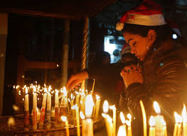 thousands of christian pilgrims begin christmas celebrations in