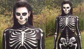 Skeleton Halloween Costume by Kim Kardashian Halloween Costume 2014 Youtube