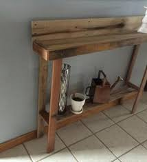 Pallet Console Table with Upcycled Console Table Made From Pallets Pallet Stuff Sofa Table