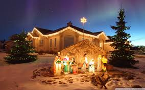 outdoor christmas nativity scene hd desktop wallpaper widescreen
