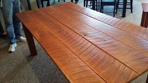 reclaimed rough cut cherry dining room table
