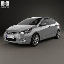 hyundai accent 2012 sedan hyundai accent i25 sedan 2012 3d model hum3d