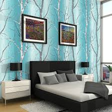 aliexpress com buy teal blue modern embossed birch tree woods aliexpress com buy teal blue modern embossed birch tree woods wallpaper colorful murals forest wall paper roll for living room background from reliable