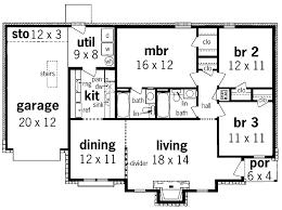 simple 3 bedroom house plans modern 3 bedroom house plans no garage pageplucker design