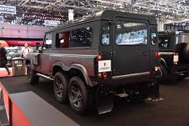kahn land rover defender double cab kahn design привезли в женеву шестиколесный land rover defender
