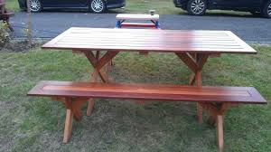 Make Your Own Picnic Table Bench by Picnic Table Hometalk