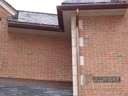 tudor house elevations copper gutters custom ogee copper gutter installation new