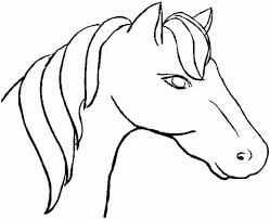 head coloring pages to print for horse head pictures to color