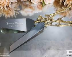 Wedding Gift Knife Set Wedding Cake Servers U0026 Knives Etsy