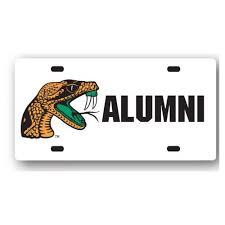famu alumni license plate frame ncaa florida a m rattlers alumni license plate