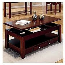 amazon com lift top coffee table in cherry finish with storage