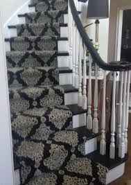 this stanton carpet stair runner on a circular stairway in the