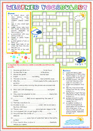 around the world in english weather vocabulary worksheet