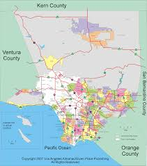 Seattle City Limits Map by Road Map Of Los Angeles Metro Los Angeles California Los Angeles