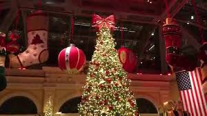 bellagio las vegas 2015 christmas tree holiday scene tour 12 4 15