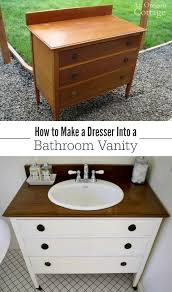 How To Make Bathroom Cabinets - how to make a dresser into a vanity tutorial