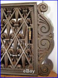 fleur de lis register vent cover ornamental iron heat grate