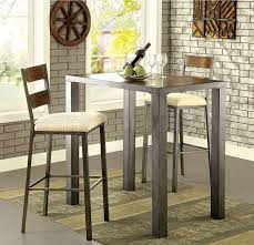 Oak Bar Table Ii Cm3686bt 5pc Bar Table Set In Oak