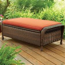 Patio Storage Ottoman Outdoor Patio Garden Storage Ottoman Furniture Set Rust Resistant