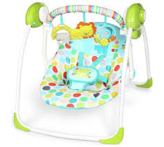 portable baby swing with lights buy chad valley circus friends portable swing baby swings argos