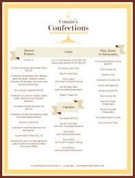 dessert catering menu event catering menu