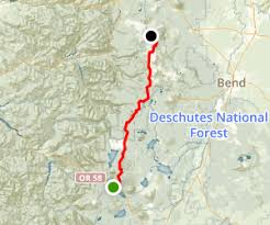 map of hwy 58 oregon pct or section e highway 58 to highway 242 pass