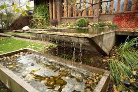 decoration amazing garden fence ideas with pond with terrace