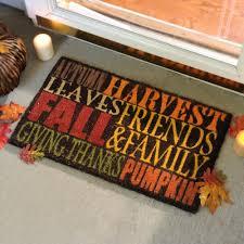 Fun Doormat Autumn Harvest Typography Doormat Kirklands