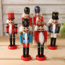 Decorative Nutcrackers 6 Pcs Handpainted Wooden Nutcracker Toy Solider Christmas