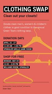 the 25 best sustainability kids hbs clothing swap donation days sustainability at harvard