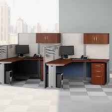 Metal Computer Desk With Hutch by Bush Office In An Hour Melamine U Shaped Double Workstation