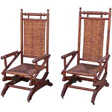 Rocking Chairs For Sale Pair Of Rustic 19th Century Platform Rocking Chairs For Sale At