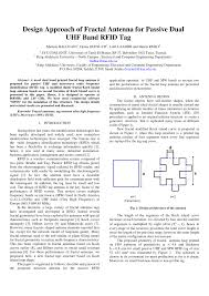 design approach of fractal antenna for passive dual uhf band rfid