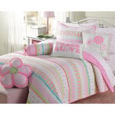 Discount Girls Bedding by Shop For Greta Pastel Cotton 3 Piece Quilt Set And More For